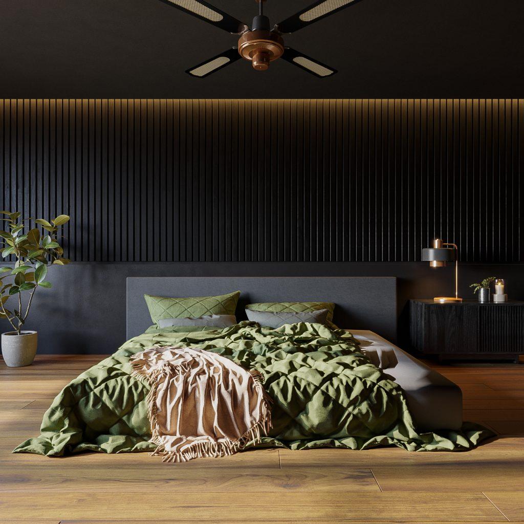 wizualizacje 3d szczecin łóżko zbliżenie modeller