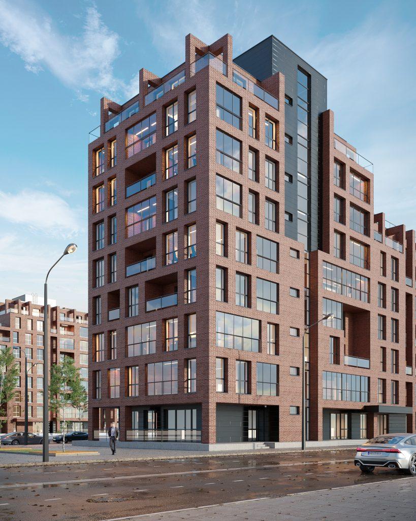 wizualizacje 3d szczecin budynek biurowy wizualizacja architektoniczna modeller dzień